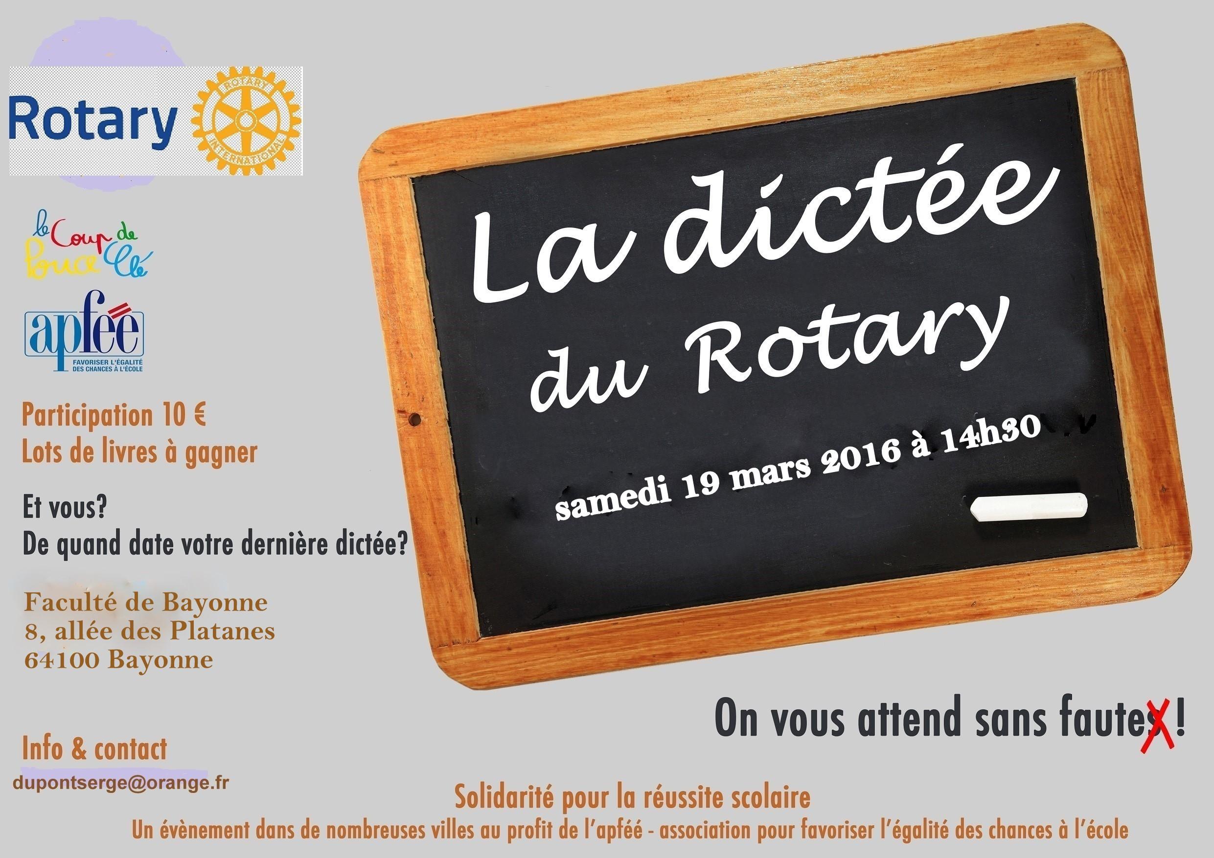 Dictée du Rotary